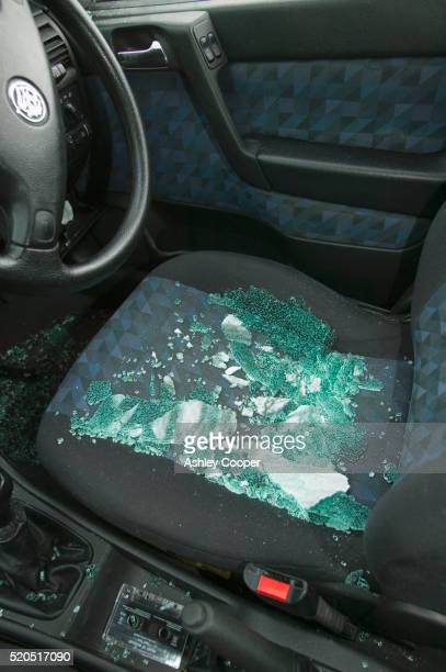 Glass Shards from Broken Car Window