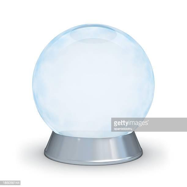 Glass sphere.