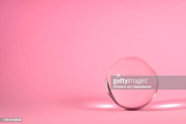 glass sphere transparent on abstract background - mirror object stock pictures, royalty-free photos & images