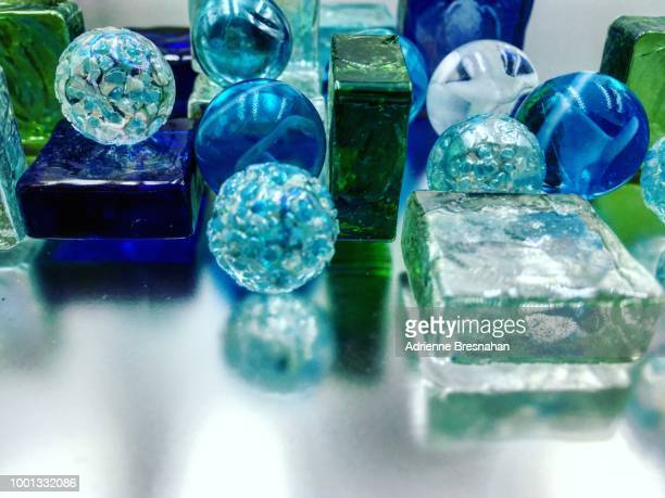 Glass Spheres and Squares Still Life