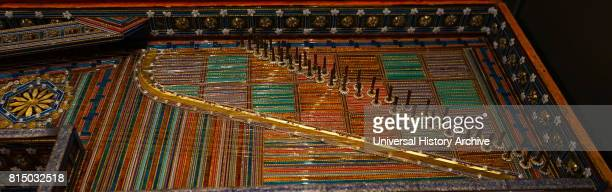 A glass virginal an early spinet with the strings parallel to the keyboard typically rectangular from Austria Dated 17th Century