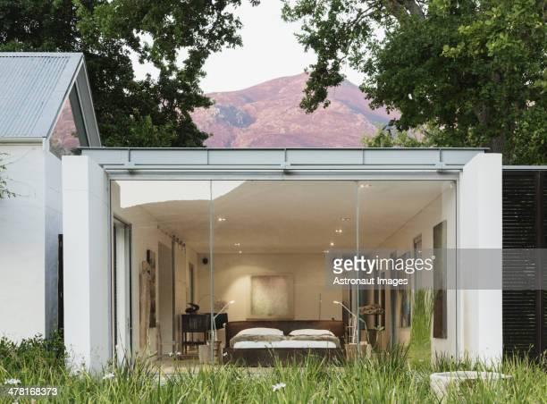 Glaswand des modernen Haus