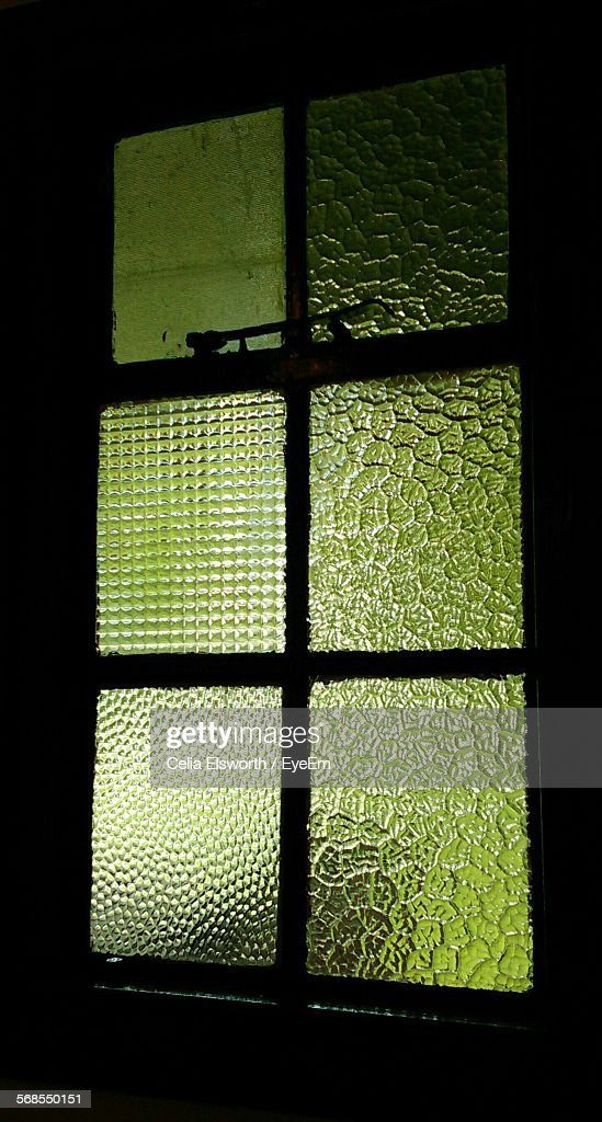 Glass Window At Night : Stock Photo