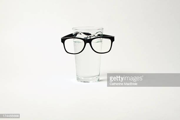 glass with glasses...