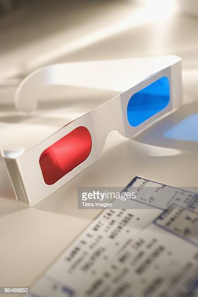 3D glasses and movie tickets
