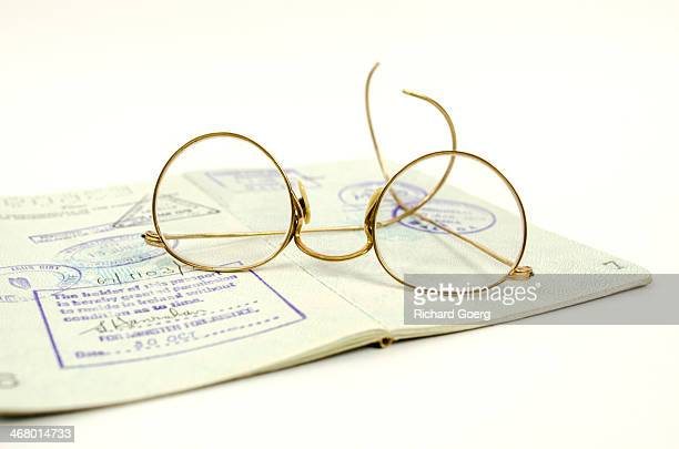 Glasses and passport