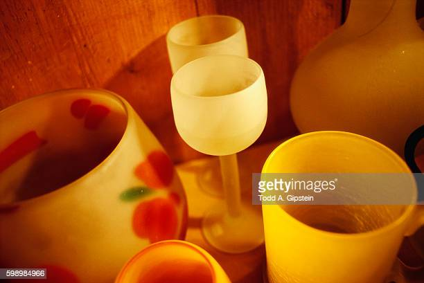 glasses and vases - gipstein stock pictures, royalty-free photos & images