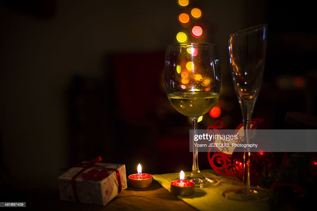 glasses drinks champagne happy new year stock photo