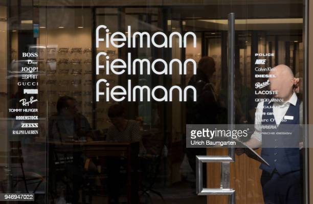 Glasses Fielmann the picture shows a shop window with the logo of the spectacle company Fielmann