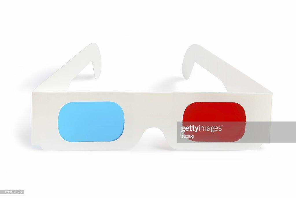 3 D Brille-Vorderansicht : Stock-Foto