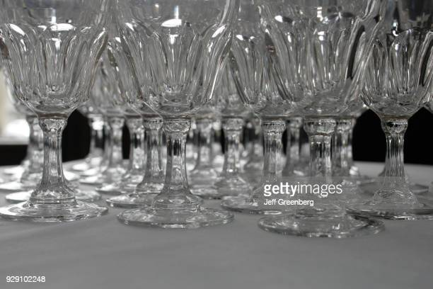 Glasses in the banquet hall at the Signature Gardens in Miami