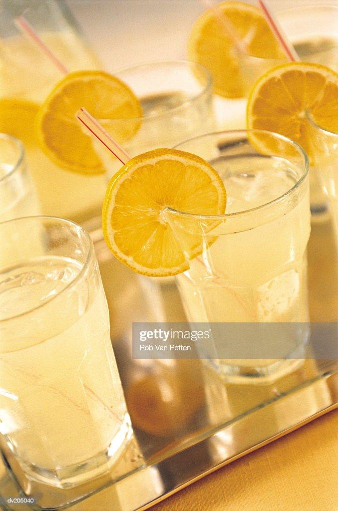 Glasses of lemonade : Stock Photo