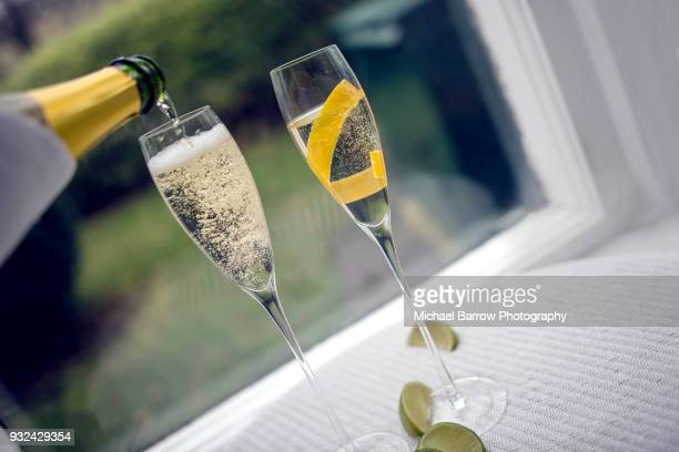 glasses of prosecco - prosecco stock pictures, royalty-free photos & images