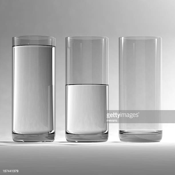 glasses of water - cylinder stock pictures, royalty-free photos & images