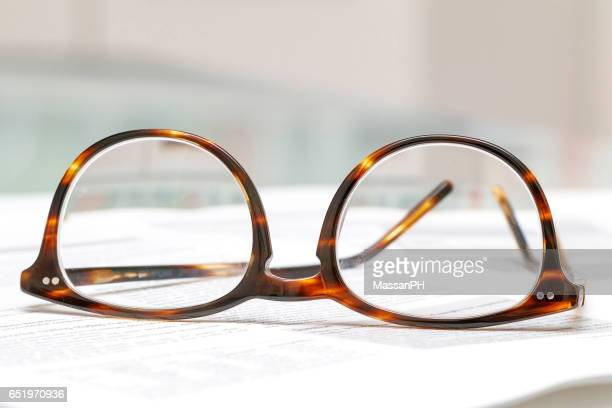 Glasses on printed sheets