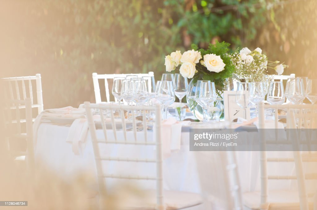 Glasses On Table : Foto stock