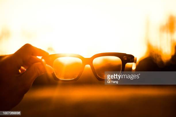 glasses - big eyes stock photos and pictures
