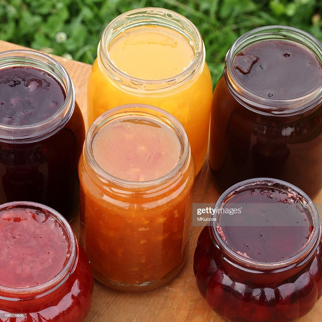 Glasses with jam : Stock Photo