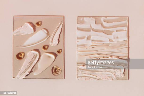 glasses with skin care products - spread stock pictures, royalty-free photos & images