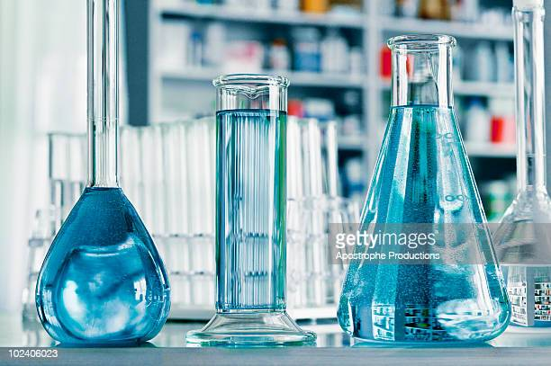 glassware in laboratory