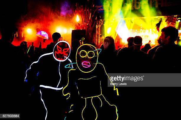 Glastonbury Festival 2014. The Hell stage in Shangri-La Shangri-La is the after-hours epicentre of Glastonbury Festival, a largely indescribable,...