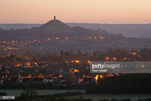 Glastonbury Tor, Dawn, Somerset, England, United Kingdom