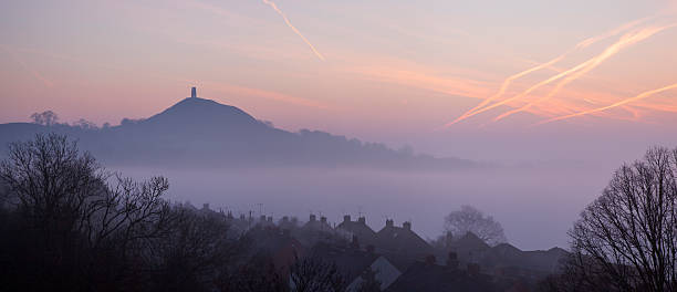 Glastonbury Tor from Wearyall Hill, Somerset, UK