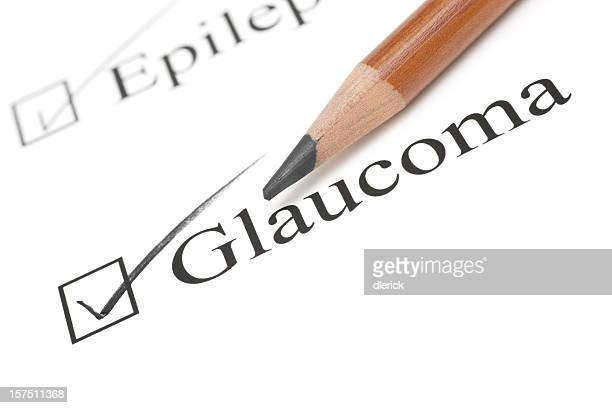 glaucoma health care check list