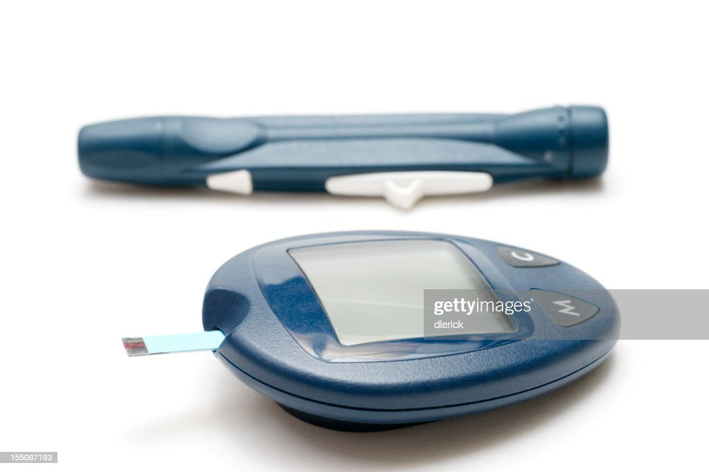 Glaucometer and Pin Prick Tool : Stock Photo