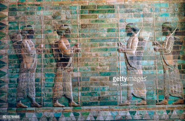 Glazed brick relief of archers of the Persian Royal Guard from the palace of Darius I at Susa from the Louvre's collection