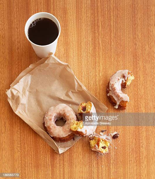 Glazed Donuts and Coffee