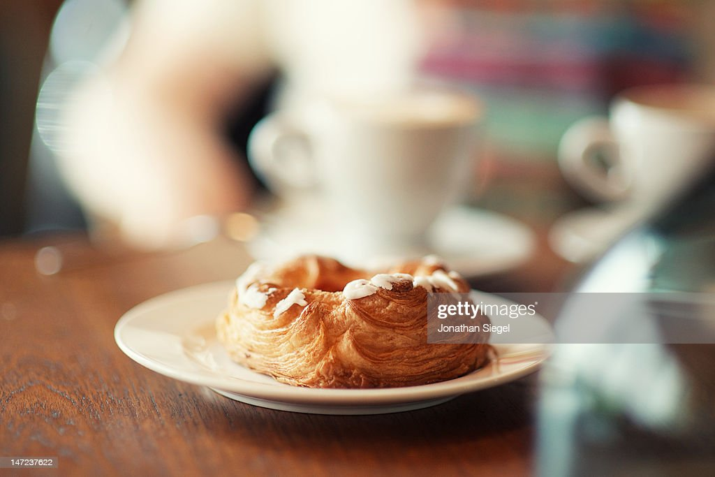 Glazed pastry at cafe : Stock Photo