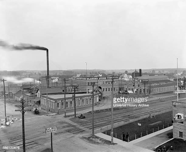 Glazier Stove Company General View of Factory Chelsea Michigan USA circa 1905