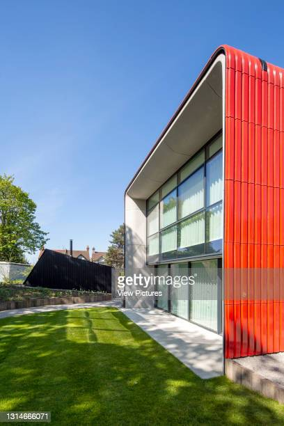 Glazing of south facade. Maggie's Centre, Royal Marsden Hospital, Sutton, United Kingdom. Architect: Ab Rogers Design, 2019.