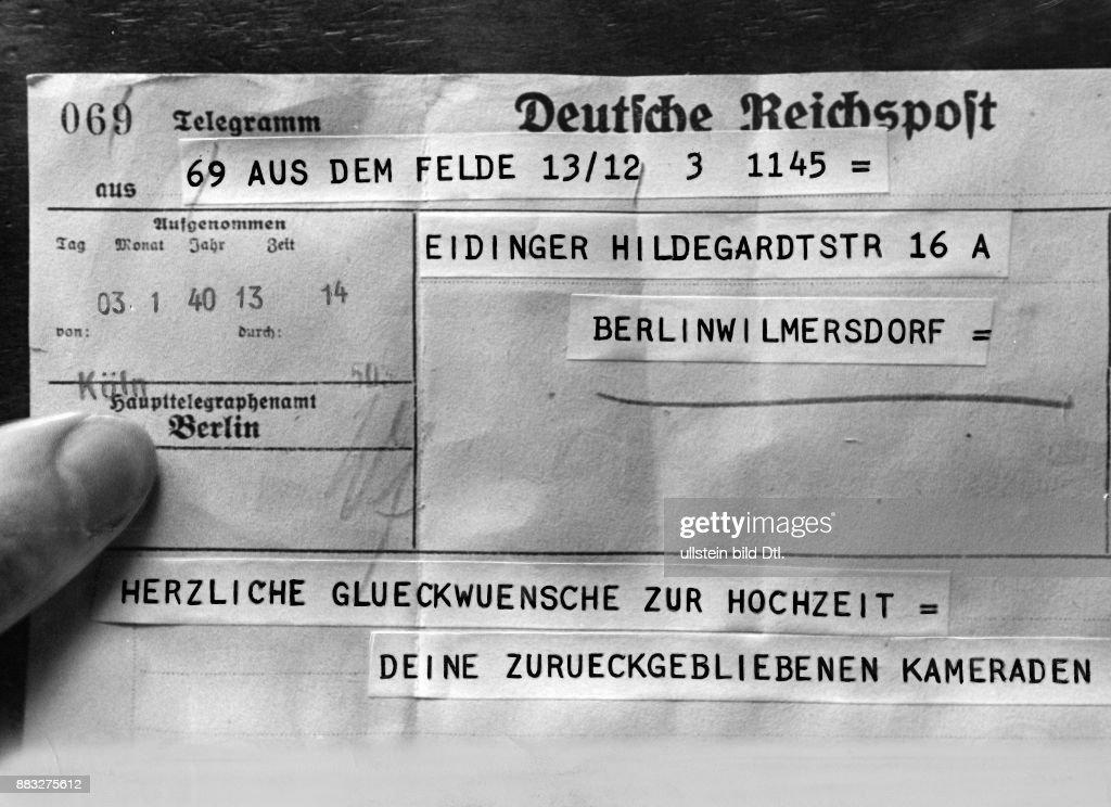 Glückwünsche Zur Hochzeit An Einen Wehrmachtssoldaten Von