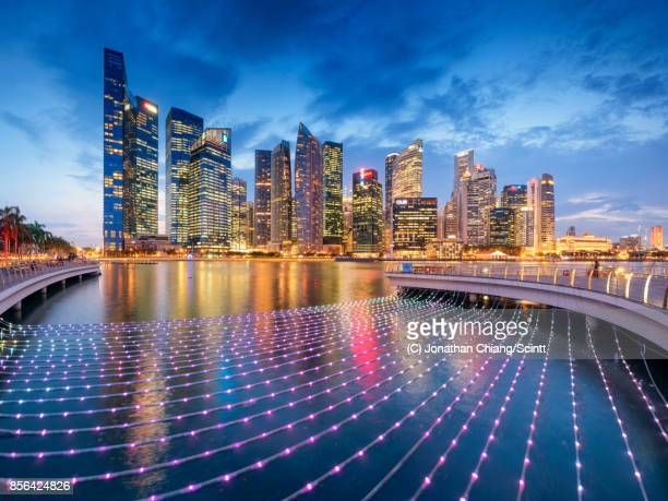 gleaming city - singapore stock photos and pictures