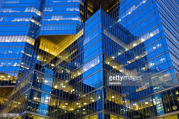 Gleaming Glass Facade, Office Building