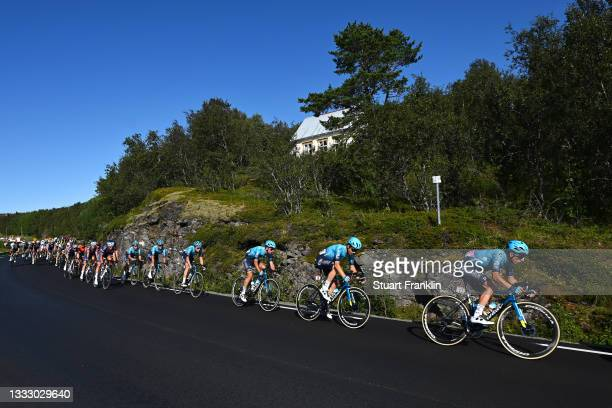 Gleb Brussenskiy of Kazahkstan and Team Astana – Premier Tech & The Peloton during the 8th Arctic Race Of Norway 2021, Stage 4 a 163,5km stage from...