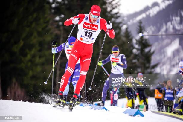 Gleb Retivykh of Russia in action during the FIS Nordic World Cup Men's and Women's Cross Country Sprint on January 26 2020 in Oberstdorf Germany