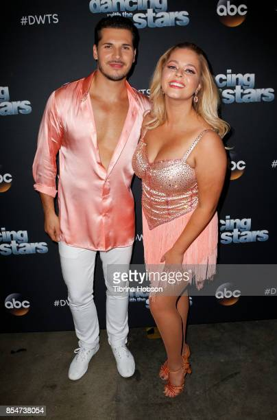 Gleb Savchenko and Sasha Pieterse attend 'Dancing With The Stars' season 25 taping at CBS Televison City on September 26 2017 in Los Angeles...