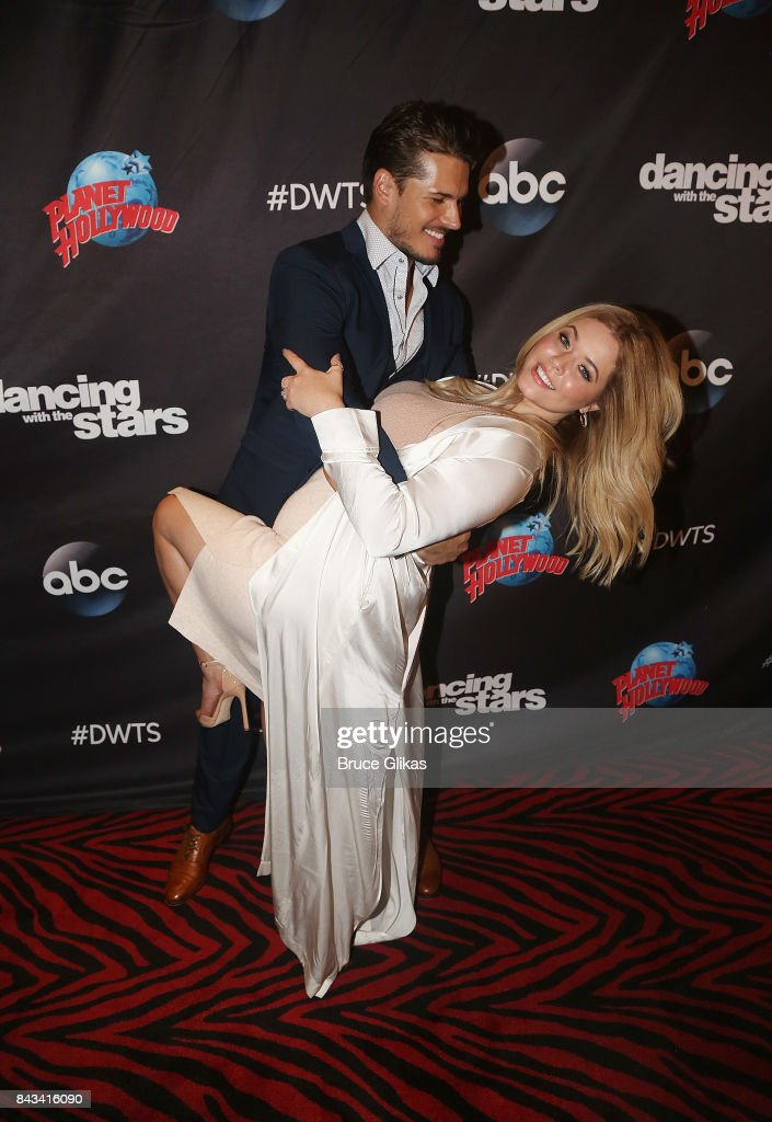 Gleb Savchenko and Sasha Pieterse pose at ABC's 'Dancing with the Stars' Season 5 cast announcement event at Planet Hollywood Times Square on September 6, 2017 in New York City.
