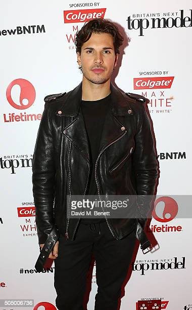 Gleb Savchenko attends Lifetime's launch of Britain's Next Top Model airing tonight at 9pm on Lifetime at Kensington Roof Gardens on January 14 2016...