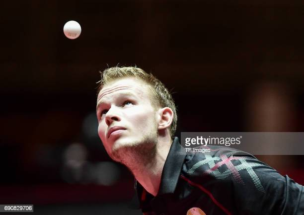 Gleb Shamruk of Belarus in action during the Table Tennis World Championship at Messe Duesseldorf on May 29, 2017 in Dusseldorf, Germany.