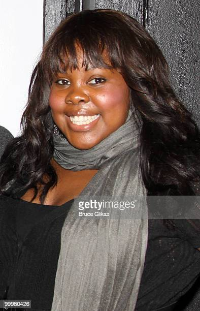 Glee cast member Amber Riley attends a performance of American Idiot on Broadway at The St James Theater on May 18 2010 in New York City
