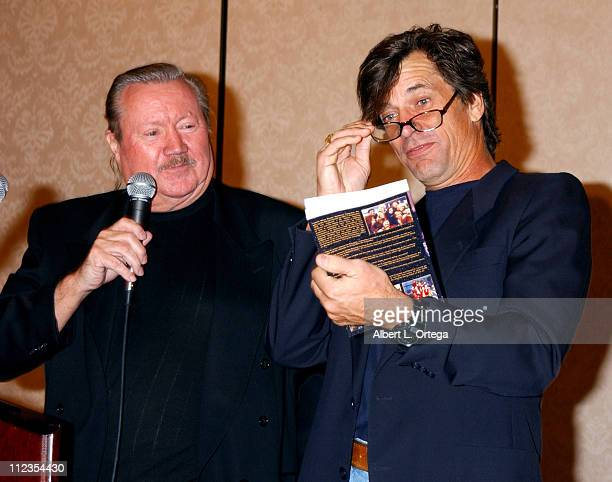 """Glen A. Larson and Dirk Benedict during 2003 Galacticon Celebrating the 25th Anniversary of """"Battlestar Galactica"""" - Day One at The Universal..."""