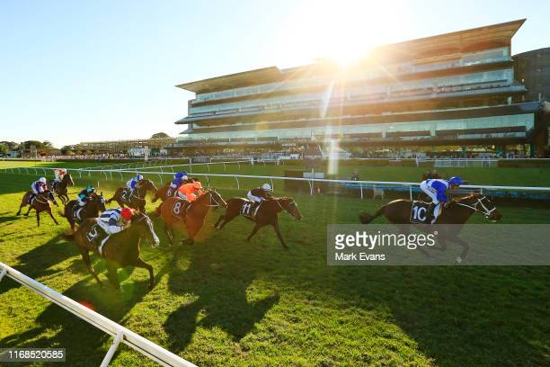 Glen Boss on Girl Tuesday wins race 7 the Spring Preview Handicap during Sydney Racing on the Kensington track at Royal Randwick Racecourse on August...