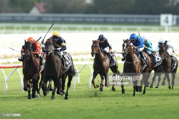 Glen Boss riding Brutal wins race 9 The Star Doncaster Mile during day one of The Championships as part of Sydney Racing at Royal Randwick Racecourse...