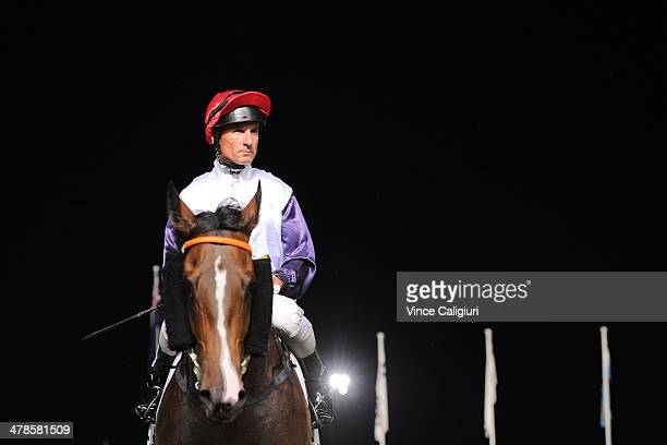 Glen Boss riding London Lolly after winning Race 4 the Chandler Macleod St Albans Stakes during Melbourne Racing at Moonee Valley Racecourse on March...