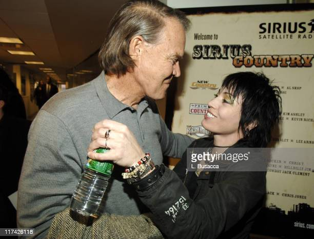 Glen Campbell and Joan Jett during The 39th Annual CMA Awards Luncheon at Sirius Satellite Radio at Sirius Satellite Radio Offices in New York City...