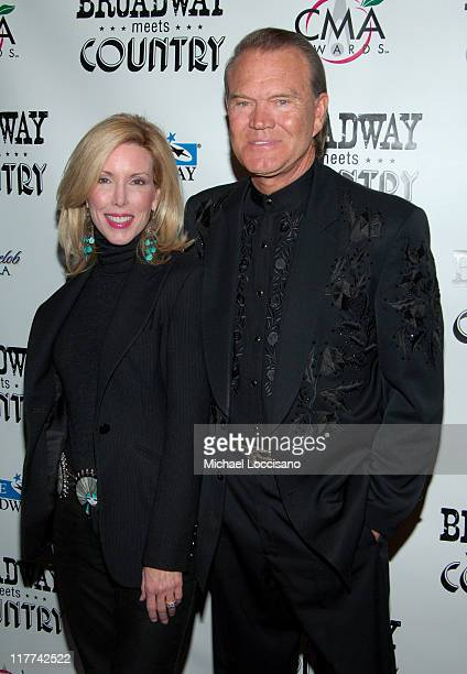 Glen Campbell and Kim Campbell during Country Takes New York City Broadway Meets Country Arrivals at Allen Room Jazz at Lincoln Center in New York...